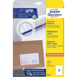 Avery zweckform Etykiety uniwersalne ogólnego zastosowania, 105 x 148mm, białe, do drukarki, 40 sztuk