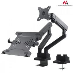 Maclean Uchwyt biurkowy podwójny na monitor/laptop MC-813