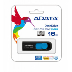 Adata DashDrive UV128 16GB USB3.0 czarno - niebieski
