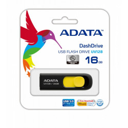 Adata DashDrive UV128 16GB USB3.0 czarno - żółty