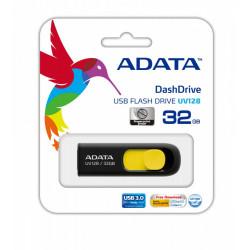 Adata DashDrive UV128 32GB USB3.0 czarno - żółty
