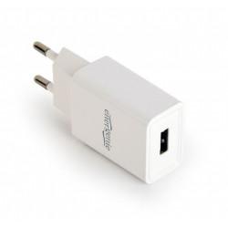 Gembird Ładowarka uniwersalna USB 2 A biała