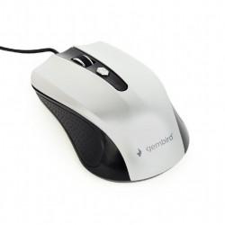 Gembird Mysz optyczna USB czarno-srebrna
